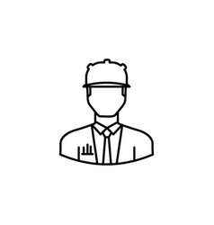 avatar engineer outline icon signs and symbols vector image