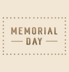 Background of memorial day collection vector