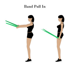 Band pull in exercise vector