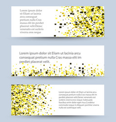 Banners set of white textured rectangle vector