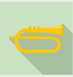 bass trumpet icon flat style vector image