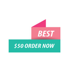Best labels pink and green vector