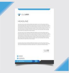 Bluish letterhead design vector