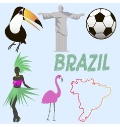 Brazil symbols vector