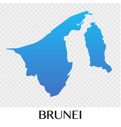 Brunei map in asia continent design vector