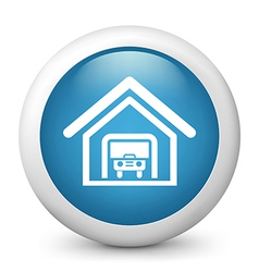Car park glossy icon vector image