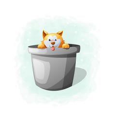 cartoon cute dog vector image
