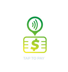 contactless payment with card icon vector image