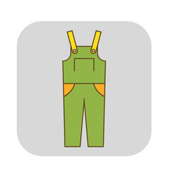coverall protective clothing flat icon object vector image