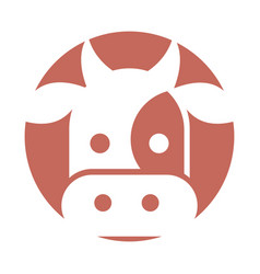 Cow head isolated icon vector