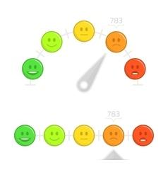 Credit score gauge with smile vector