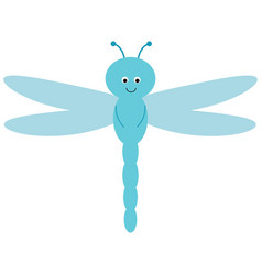 cute cartoon dragonfly is flying picture for vector image