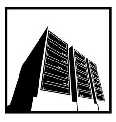 data center white vector image