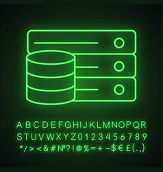 database neon light icon vector image