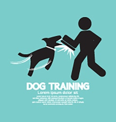 Dog Training Graphic Symbol vector image