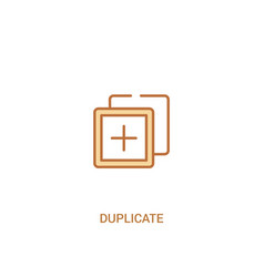 Duplicate concept 2 colored icon simple line vector