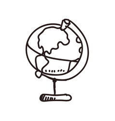 Earth globe vintage vector