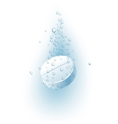 effervescent tablet vector image