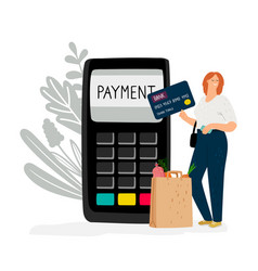 electronic money payment vector image
