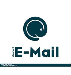 elephant email logo vector image