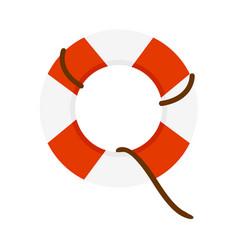 Emergency lifesaver buoy vector