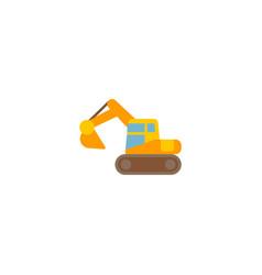 excavator icon flat element vector image