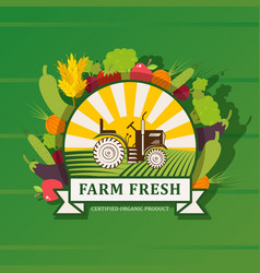 farm product label graphic vector image