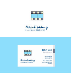 flat film logo and visiting card template vector image