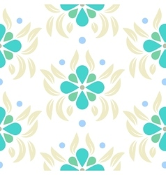 floral leaves seamless pattern vector image