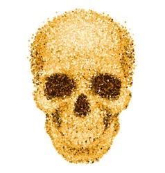 Golden skull vector