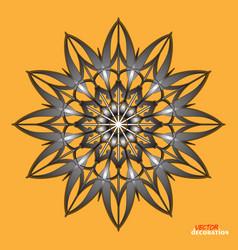 gothic monochrome decorative motif snowflake sign vector image