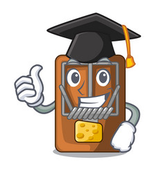Graduation mousetrap in the shape mascot wood vector
