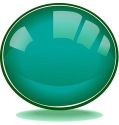 Green round shape web button vevtor vector