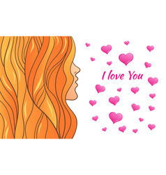 Greeting card valentine s day vector
