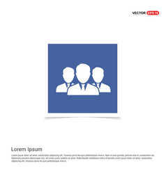 Group of people icon - blue photo frame vector