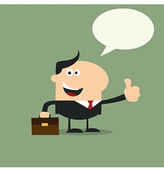 Happy Businessman Giving the Thumbs Up vector