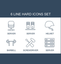 Hard icons vector
