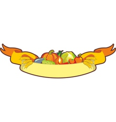 Harvest Ribbon vector