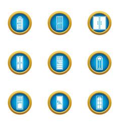 hole icons set flat style vector image