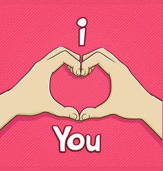 I love you hand symbol vector