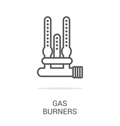 icon gas equipment vector image