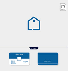 initial creative logo template minimalist logo vector image