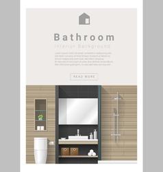 Interior design modern bathroom banner 3 vector