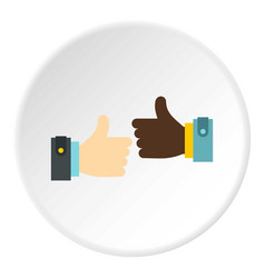 international gesture approval icon circle vector image