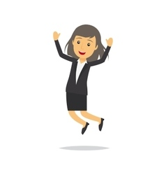 Jumping businesswoman character vector image