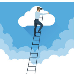 ladders to clouds vector image