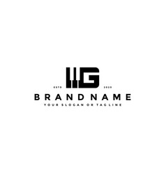 Letter g piano logo design vector