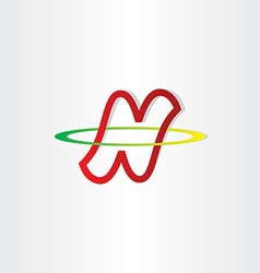 Letter n neutron symbol vector