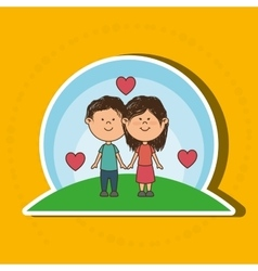 love couple design vector image