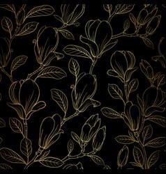 magnolia blooming flower vector image